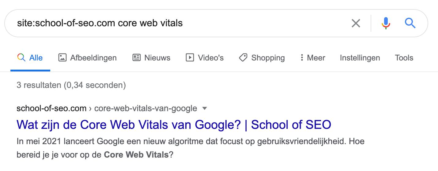 zoeken met google