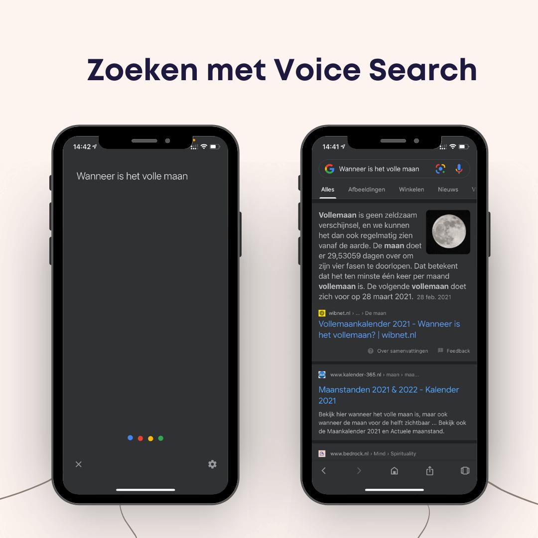 zoeken met voice search