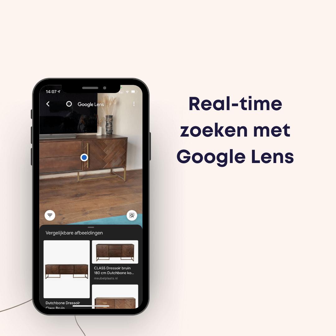 zoeken in google met google lens